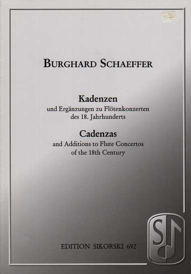 photo of Cadenzas and Additions to Flute Concertos of the 18th Century