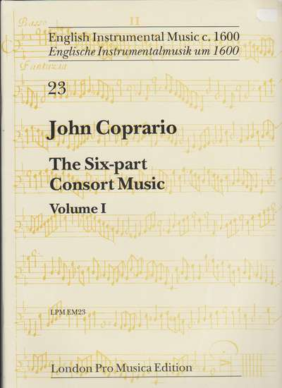 photo of The Six Part Consort Music, Vol. I
