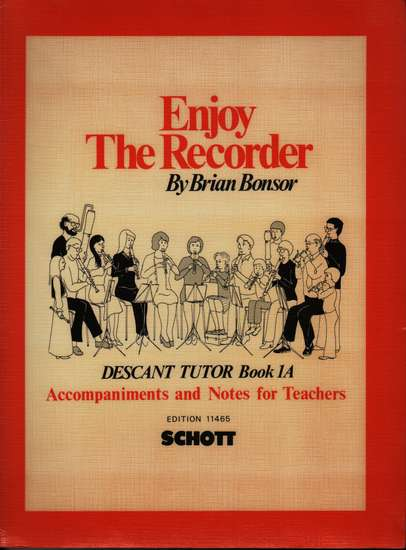 photo of Enjoy the Recorder, Descant Tutor, Book 1 Accompaniments