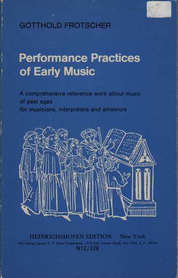 photo of Performance Practices of Early Music (paper)