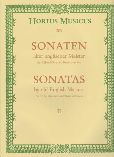 photo of Sonatas by old English Masters II