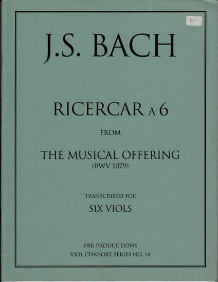 photo of Ricercar a 6 from The Musical Offering, BWV 1079