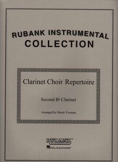 photo of Clarinet Choir Repertoire, 2nd Clarinet
