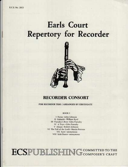 photo of Recorder Consort for Recorder Trio, Book I