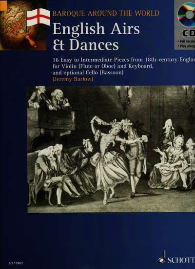 photo of English Airs & Dances 16 Easy to Intermediate Pieces from 18th-century England