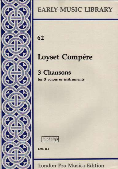 photo of 3 Chansons, Version for Viols