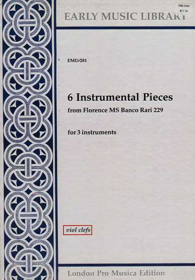 photo of 6 Instrumental Pieces, Version for Viols