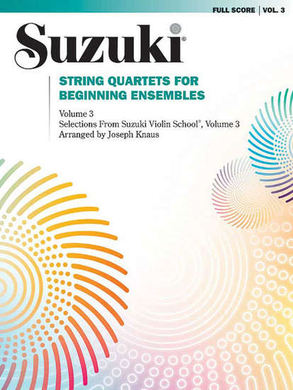 photo of Suzuki String Quartets for Beginning Ensembles, Vol. 3