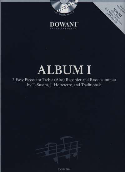 photo of Dowani Album (Easy) Vol. I, 3 Tempi CD and score, 7 Pieces for Alto