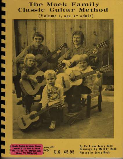 photo of The Mock Family Classic Guitar Method (Volume I, age 3 - adult)