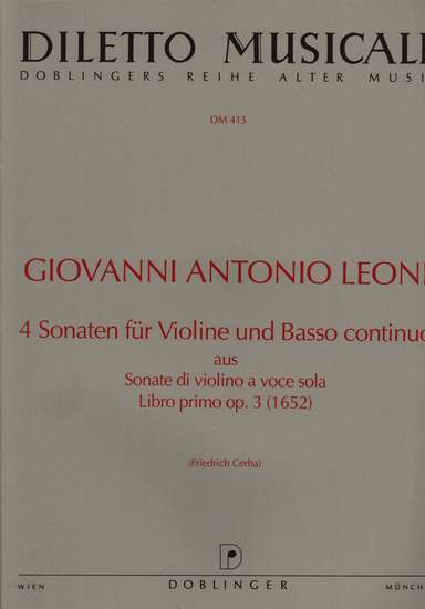 photo of 4 Sonatas for Violin and Bc Libro primo, op. 3