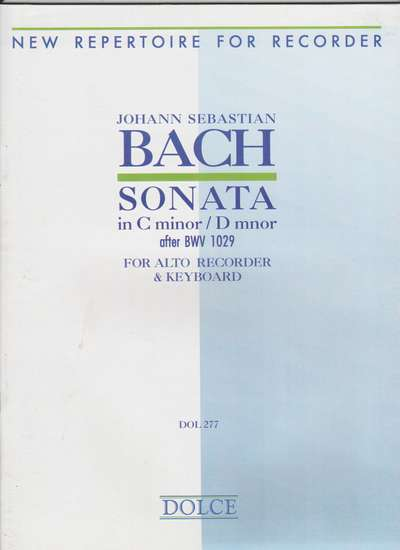 photo of Sonata in C minor/ D minor, after BWV 1029