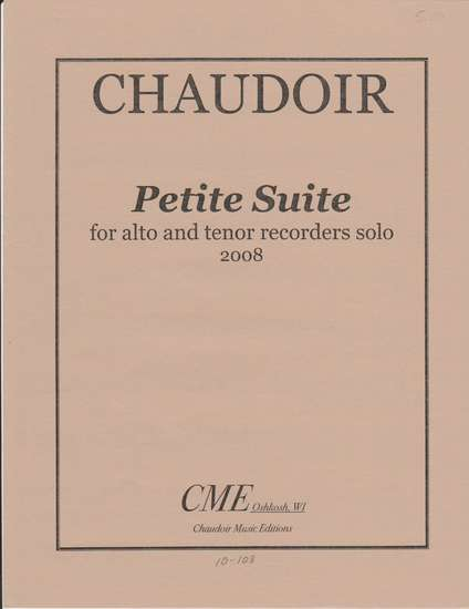 photo of Petite Suite for alto and tenor recorder