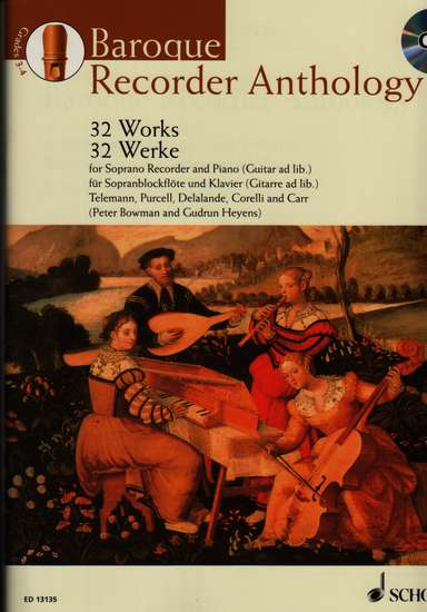 photo of Baroque Recorder Anthology, Vol. 2, 32 Works, CD, Soprano
