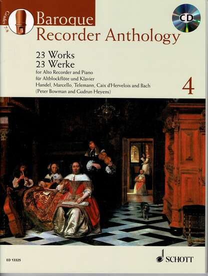photo of Baroque Recorder Anthology, Vol. 4, 23 Works, CD, Alto