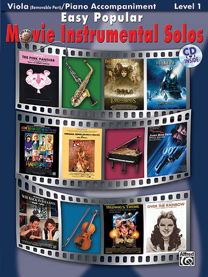 photo of Easy Popular Movie Instrumental Solos, Viola with accompaniment and CD