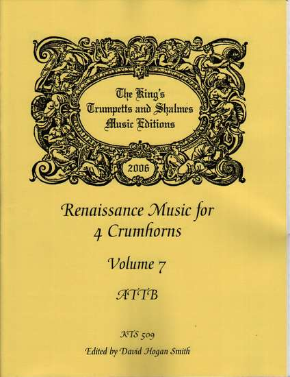 photo of Renaissance Music for 4 Crumhorns, Volume  7