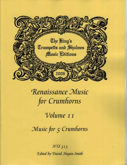 photo of Renaissance Music for 5 Crumhorns, Volume 11