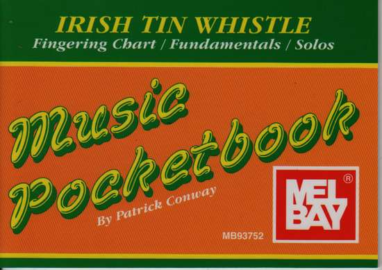 photo of Irish Tin Whistle, Music Pocketbook, Fingering Chart, Fundamentals, Solos