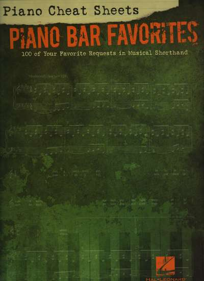 photo of Piano Cheat Sheets, Piano Bar Favorites, 100 of your favorite requests