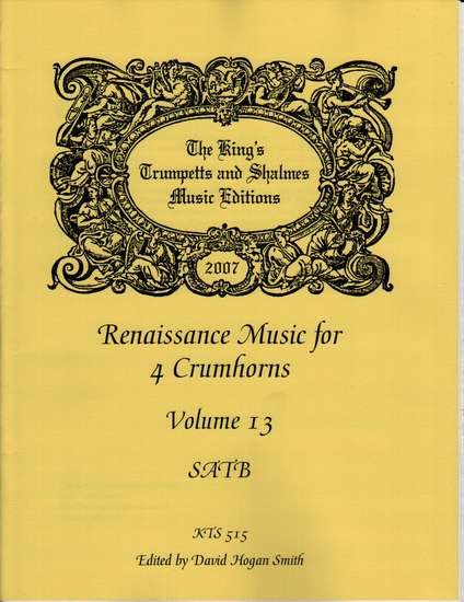 photo of Renaissance Music for 4 Crumhorns, Volume 13