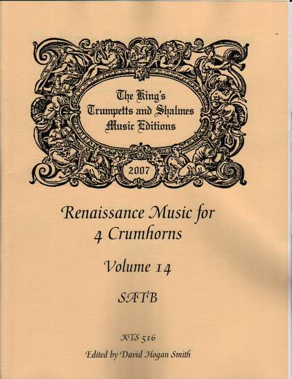 photo of Renaissance Music for 4 Crumhorns, Volume 14