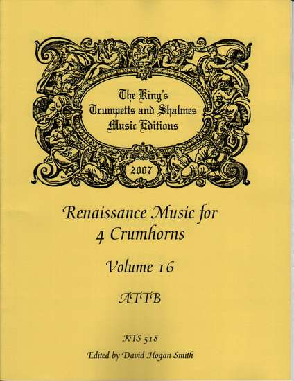 photo of Renaissance Music for 4 Crumhorns, Volume 16