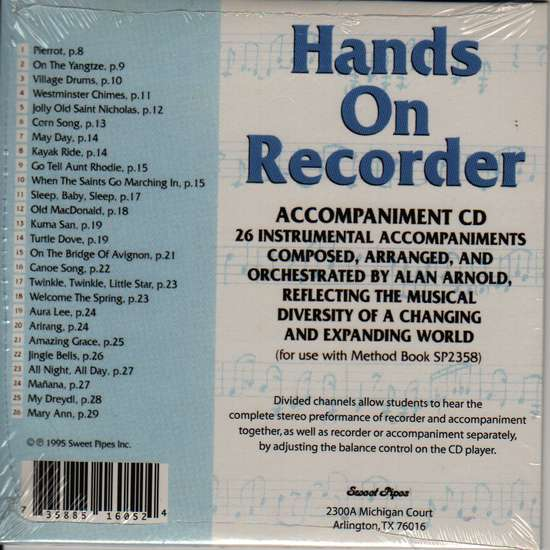 photo of Hands on Recorder, Accompaniment CD