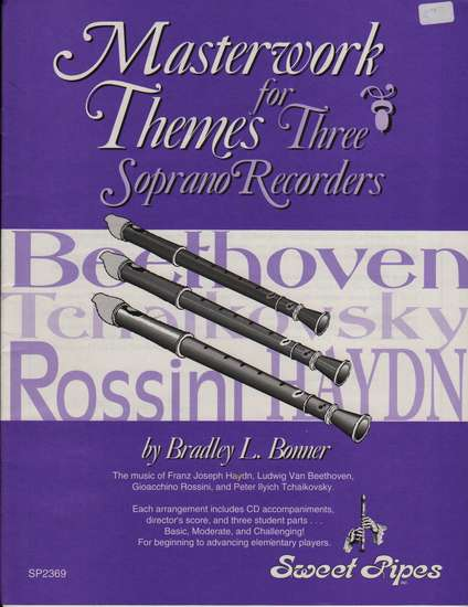 photo of Masterwork Themes for 3 soprano recorders, score