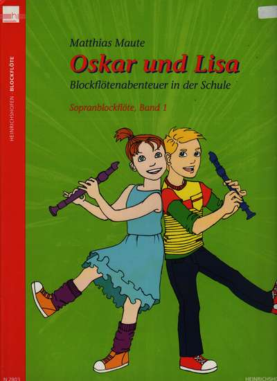 photo of Oskar und Lisa, Recorder Adventure in School, Book 1, Soprano, Student book