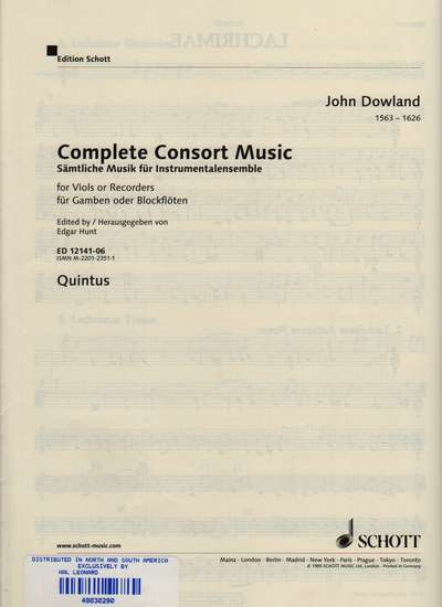 photo of Complete Consort Music, Quintus