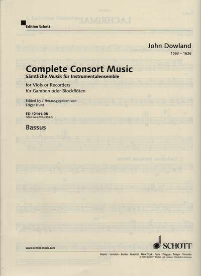 photo of Complete Consort Music, Bass