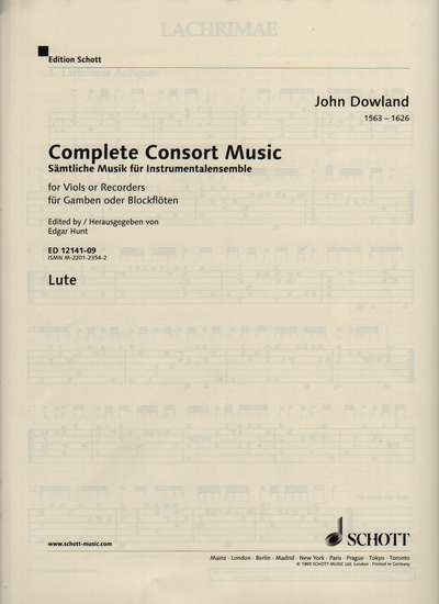 photo of Complete Consort Music, Lute