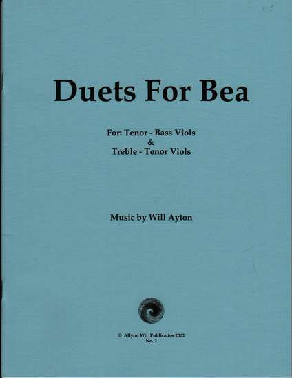 photo of Duets for Bea, for Tenor-Bass or Treble-Tenor