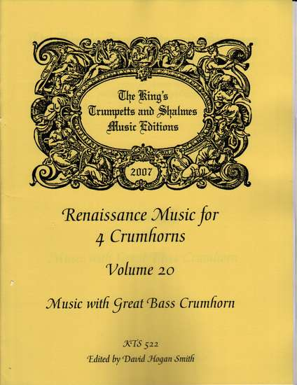 photo of Renaissance Music for 4 Crumhorns, Volume 20