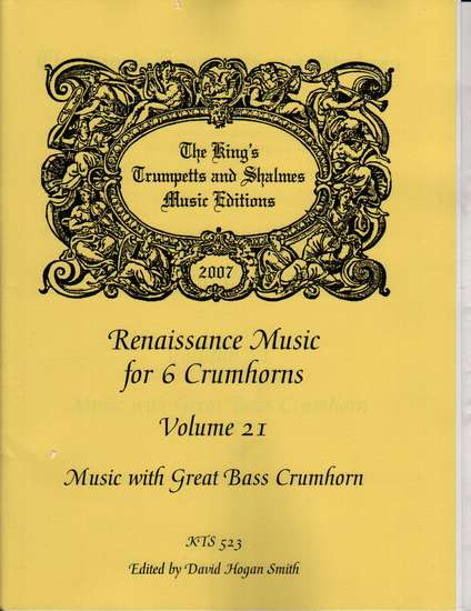 photo of Renaissance Music for 6 Crumhorns, Volume 21