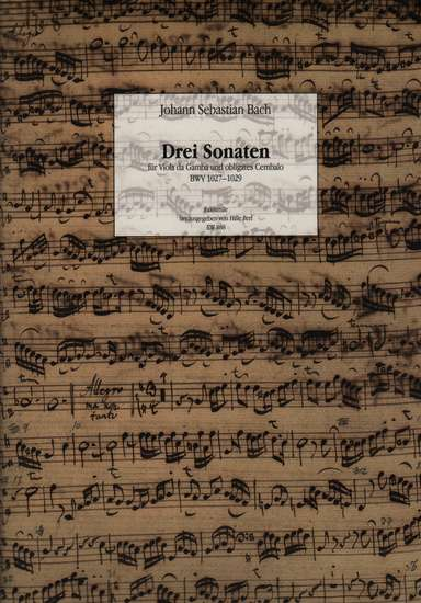 photo of Drei sonaten BWV 1027-1029, Facsimile