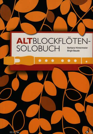 photo of Altblockfloten-solobuch
