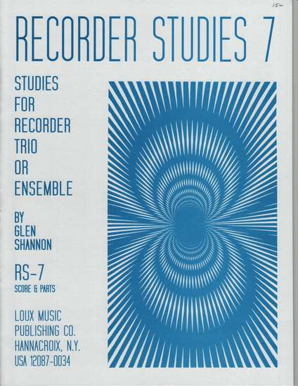 photo of Recorder Studies, Vol. 7, 4 trios