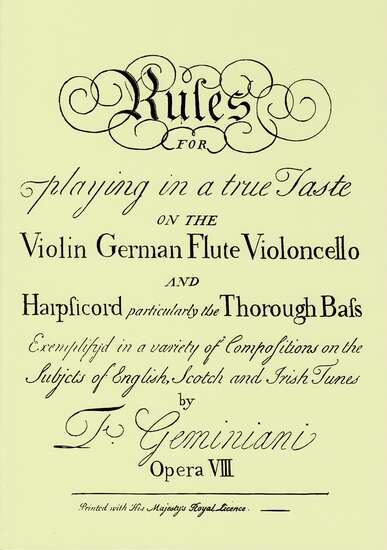 photo of Rules for playing in a true Taste Op. VIII, Facsimile