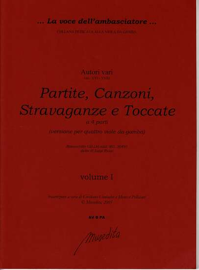 photo of Partite, Canzoni, Stravaganze e Toccate a 4 parti, scores and parts