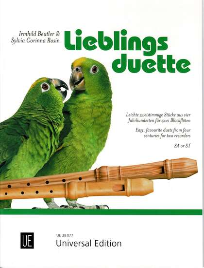 photo of Lieblings duette, Easy favorite duets from four centuries