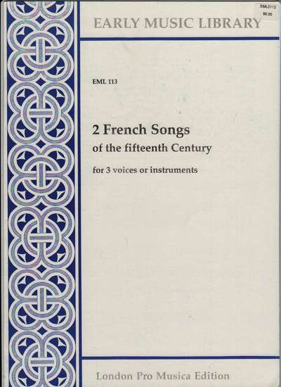 photo of 2 French Songs of the fifteenth century