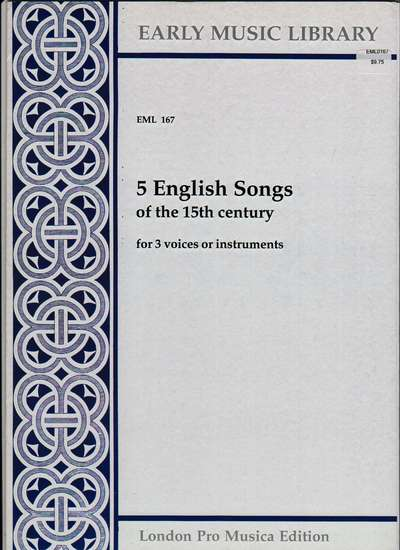 photo of 5 English Songs of the 15th Century