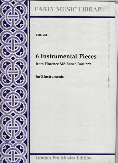 photo of 6 Instrumental Pieces from Florence MS Banco Rari 229