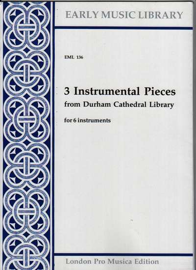 photo of 3 Instrumental Pieces from Durham Cathedral Library