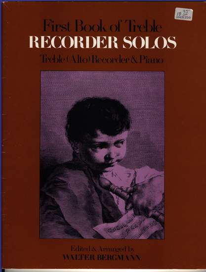 photo of First Book of Treble Recorder Solos