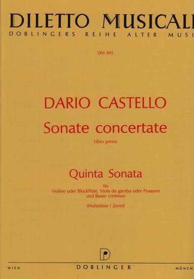 photo of Sonata concertate, Libro Primo, 5 Quinta Sonata