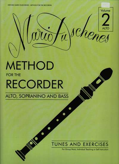 photo of Method for the Recorder, Part Two, Alto