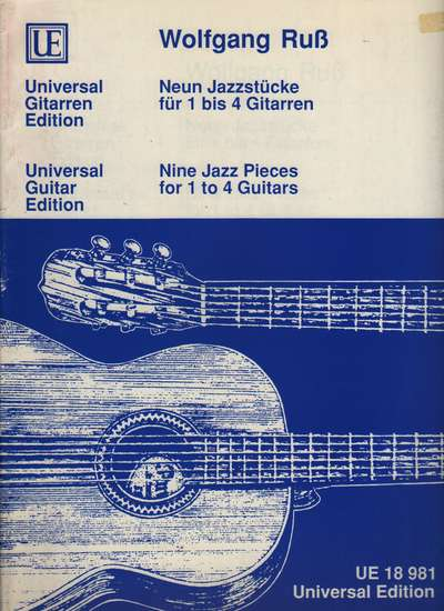 photo of Nine Jazz Pieces for 1 to 4 Guitars